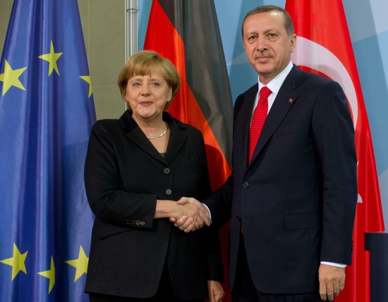 Merkel receives Erdogan