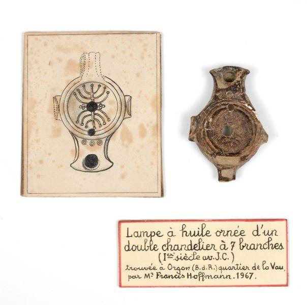 lampe à huile menorah premier siècle avant jésus christ cavaillon france