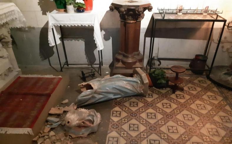 profanation église saint nicolas houille février 2019
